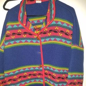 Vintage 90's Benetton blanket jacket